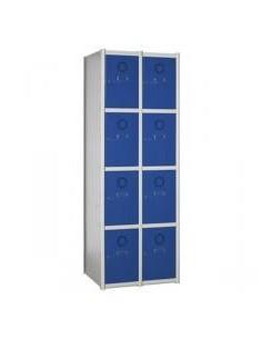 Taquilla metalica modular 8 puertas en 2 columnas