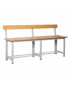 banco con respaldo en  madera