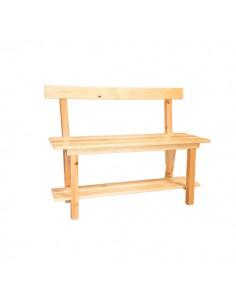 banco madera con respaldo