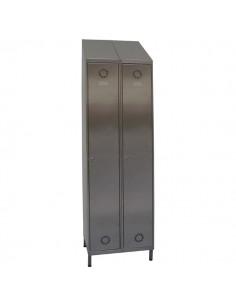 taquillas acero inoxidable 2 puertas 2 columnas