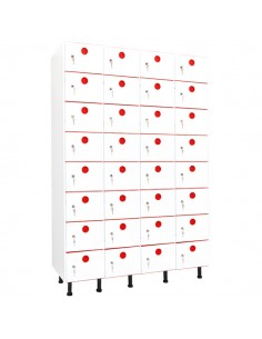 taquillas PVC 32 puertas 4 columnas