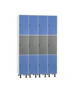 Taquilla melamína 12 puertas en 4 columnas