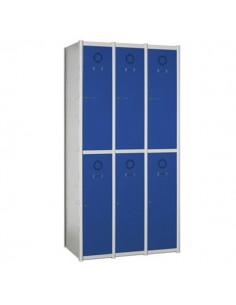 taquilla metálica modular 6 puertas 3 columnas